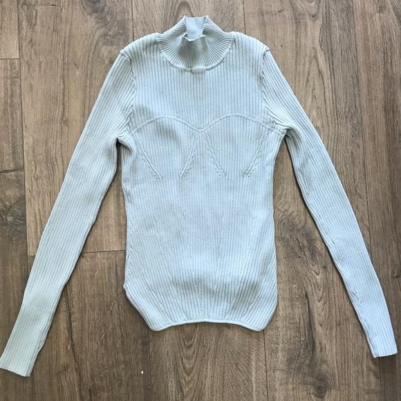 Zara Bustier Stitched Mockneck Sweater